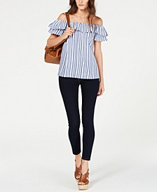 Off-The-Shoulder Striped Top & Selma Skinny Jeans