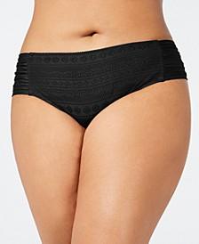 Plus Size Crochet Side-Tab Bikini Bottoms