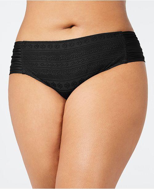 91578279f35 Becca ETC Plus Size Crochet Side-Tab Bikini Bottoms & Reviews ...