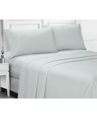 Ellen Tracy Microfiber Twin Solid and Print Sheet Set