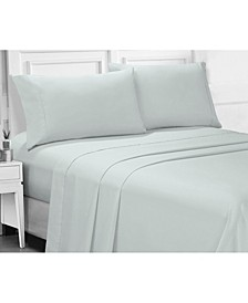 Microfiber Queen Solid and Print Sheet Set