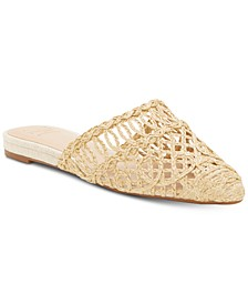 INC Macaria Pointed-Toe Mules, Created for Macy's
