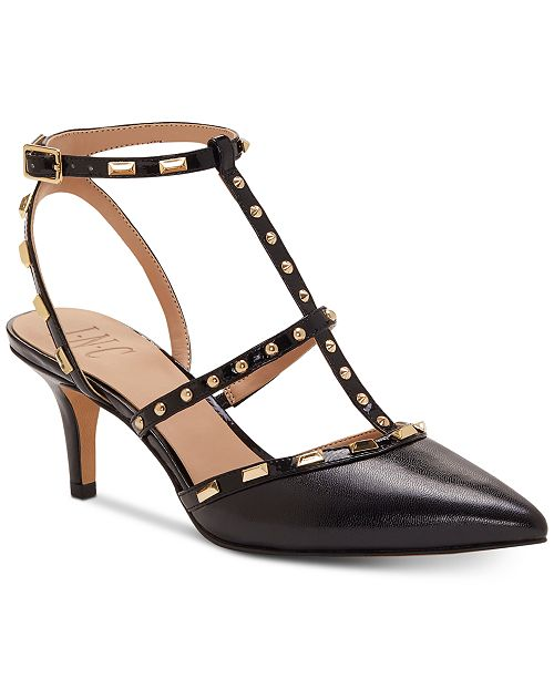 INC International Concepts INC Carma Pointed Toe Studded Kitten Heel Pumps, Created for Macy's