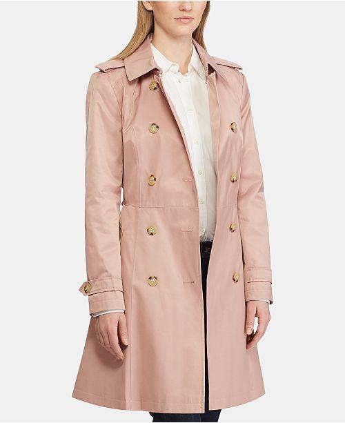 Lauren Ralph Lauren Petite Single-Breasted Trench Coat, Created for Macy's