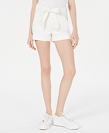 Juniors' Belted Utility Shorts