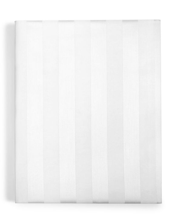 "Charter Club 1.5"" Stripe Twin XL Fitted Sheet, 550 Thread Count 100% Supima Cotton, Created for Macy's"