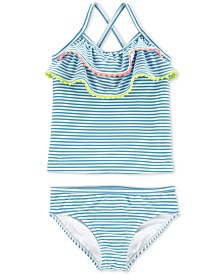 Carter's Toddler Girls 2-Pc. Striped Ruffled Tankini