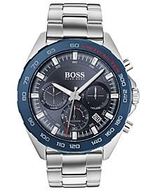 Men's Chronograph Intensity Stainless Steel Bracelet Watch 44mm