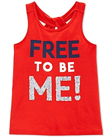 Little & Big Girls Reversible Sequin Cotton Tank Top