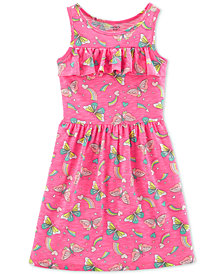 Carter's Little & Big Girls Butterfly-Print Ruffled Dress