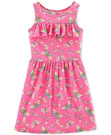 Carter's Little & Big Girls Butterfly-Print Ruffled Dress