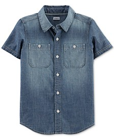 Carter's Little & Big Boys Chambray Cotton Shirt