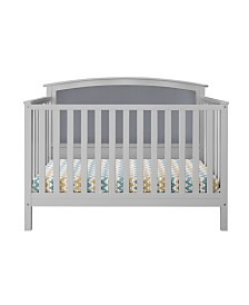 Bentley 4-in-1 Convertible Upholstered Crib-Gray with Dark Gray