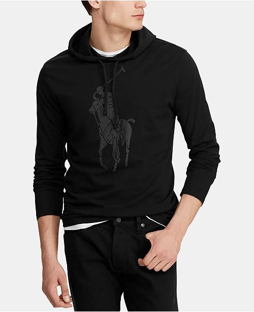 b9fdac8c Polo Ralph Lauren Men's Big Pony Jersey Hooded T-Shirt & Reviews - T ...