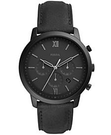 Men's Neutra Chronograph Black Leather Strap Watch 44mm
