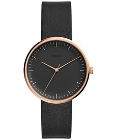 Fossil Women's Essentialist Black Leather Strap Watch 38mm