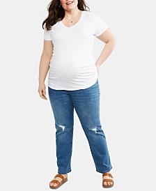 Motherhood Maternity Plus Size Straight-Leg Jeans