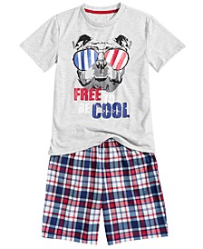 Little & Big Boys 2-Pc. T-Shirt & Shorts Pajamas Set