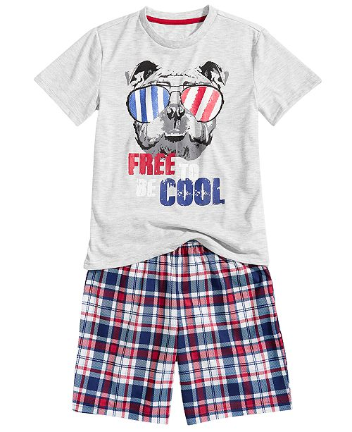 Max & Olivia Little & Big Boys 2-Pc. T-Shirt & Shorts Pajamas Set