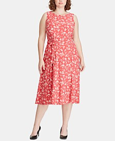 Lauren Ralph Lauren Plus Size Floral-Print A-line Dress