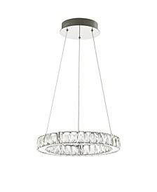 Reese Adjustable Integrated LED Metal/Crystal Chandelier Pendant