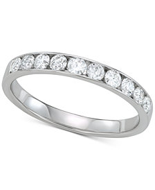 Diamond Wedding Band (1/2 ct. t.w.) in 14k White Gold
