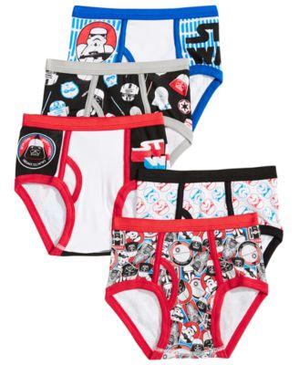 Star Wars Boys' or Little Boys' 5-Pack Underwear
