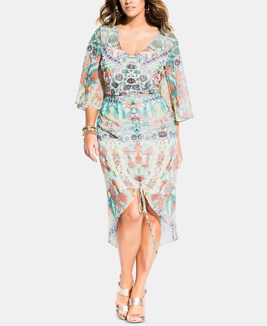 City Chic Trendy Plus Size Budapest Ruched Dress ...