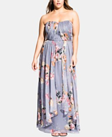 City Chic Trendy Plus Size Florence Whimsy Maxi Dress