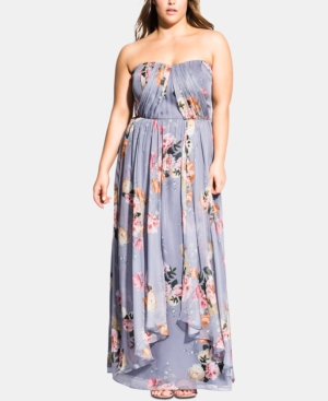 City Chic Dresses TRENDY PLUS SIZE FLORENCE WHIMSY MAXI DRESS