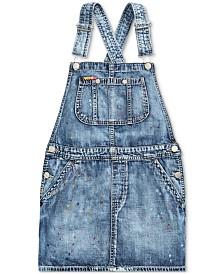Polo Ralph Lauren Big Girls Cotton Denim Overall Dress