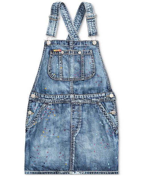 9990fc77963 Polo Ralph Lauren Toddler Girls Cotton Denim Overall Dress   Reviews ...