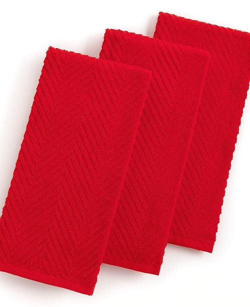 Martha Stewart Collection Red Kitchen Towels, Set of 3 ...