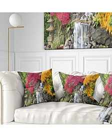 "Designart 'Japanese Maple Trees' Floral Throw Pillow - 16"" x 16"""