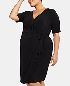 Motherhood Maternity Plus Size Wrap Dress