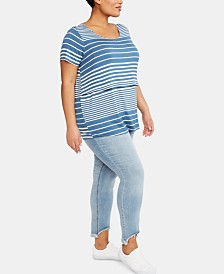 Motherhood Maternity Plus Size Distressed Skinny Jeans