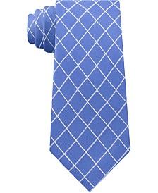 Michael Kors Men's Simplistic Line Check Silk Tie