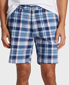 "Nautica Men's 8.5"" Classic-Fit Plaid Shorts"