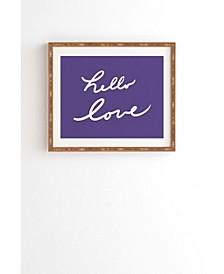 Hello Love Violet Framed Wall Art