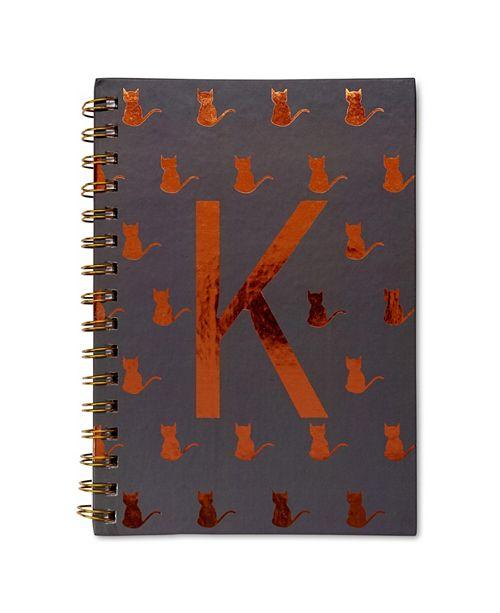 """Tri-Coastal Design Monogram Spiral Notebook """"K"""""""