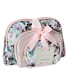 Adrienne Vittadini Set of 3 Dome Shaped Cosmetic Bags