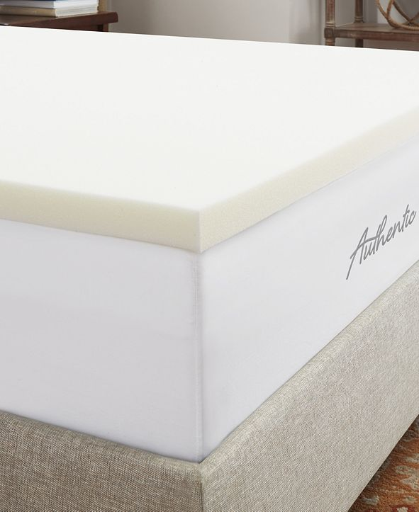 "Authentic Comfort CLOSEOUT! 1.5"" Breathable Memory Foam Queen Mattress Topper"