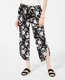 Juniors' Floral-Print Cropped Pants, Created for Macy's