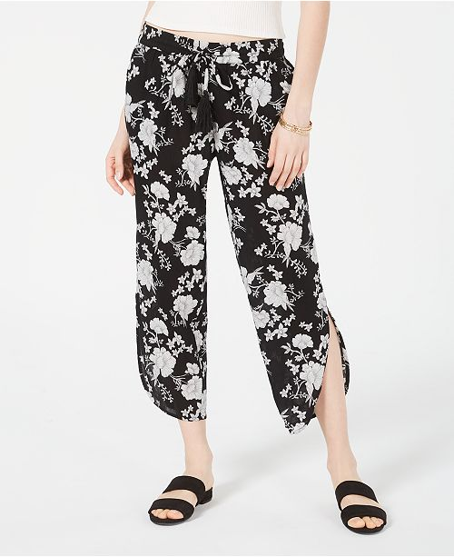 American Rag Juniors' Floral-Print Cropped Pants, Created for Macy's