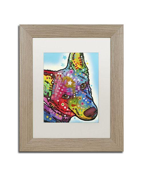 """Trademark Global Dean Russo 'Aussie Sheep Dog' Matted Framed Art - 14"""" x 11"""" x 0.5"""""""