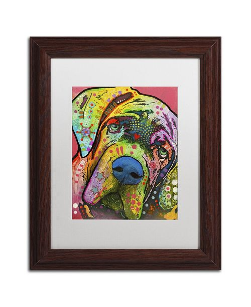 "Trademark Global Dean Russo 'Mastiff' Matted Framed Art - 14"" x 11"" x 0.5"""