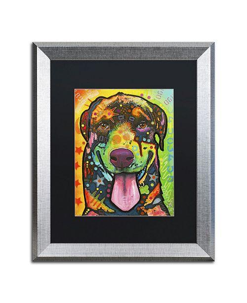 "Trademark Global Dean Russo 'Rottie Pup' Matted Framed Art - 20"" x 16"" x 0.5"""