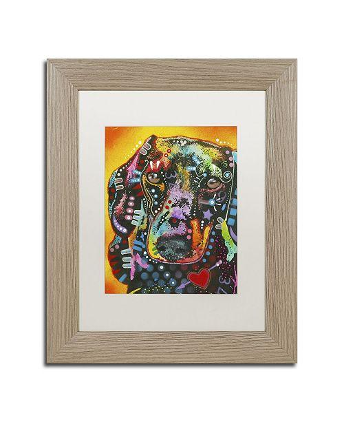 "Trademark Global Dean Russo 'Brilliant Dachshund' Matted Framed Art - 14"" x 11"" x 0.5"""