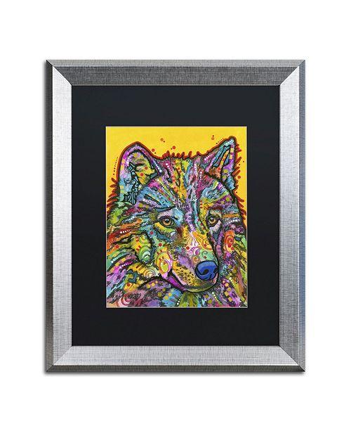 """Trademark Global Dean Russo 'Wolf 2' Matted Framed Art - 20"""" x 16"""" x 0.5"""""""