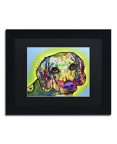 """Trademark Global Dean Russo 'Beagle' Matted Framed Art - 11"""" x 14"""" x 0.5"""""""